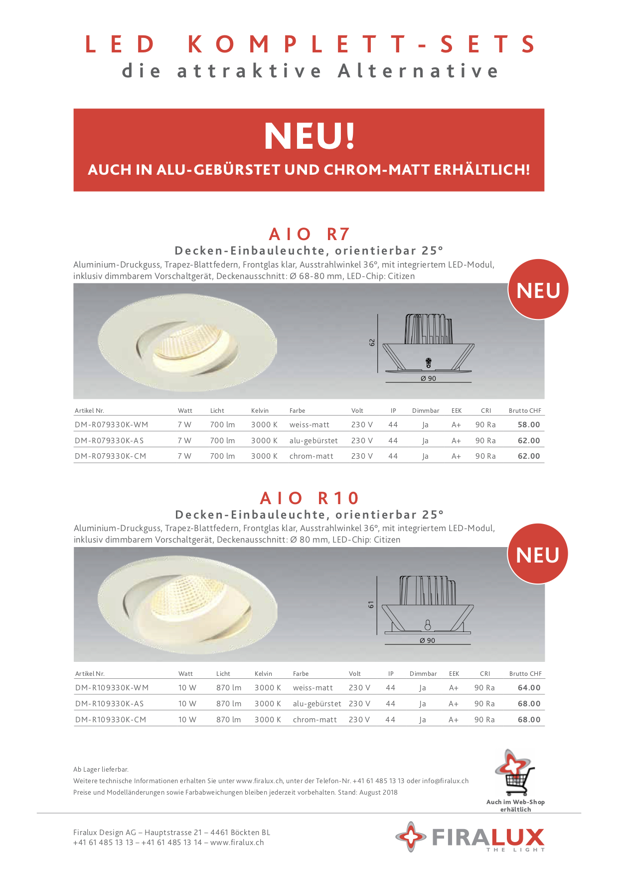 Flyer Einbauspot AIO NEW deutsch